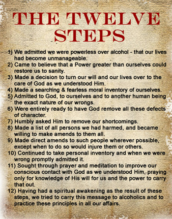 Worksheets 12 Steps Of Recovery Worksheets the 12 steps a steps